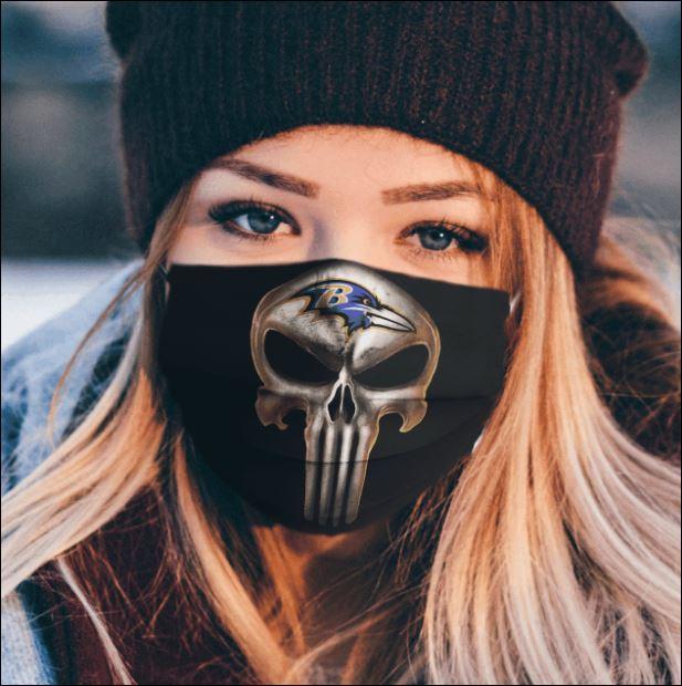 Baltimore Ravens The Punisher face mask
