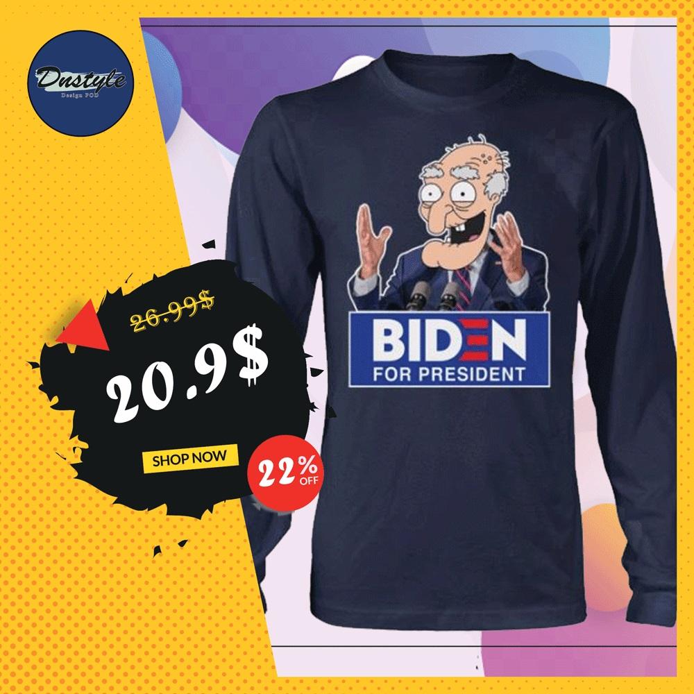 Biden for president long sleeved