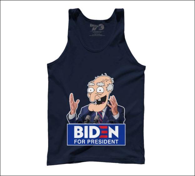 Biden for president tank top