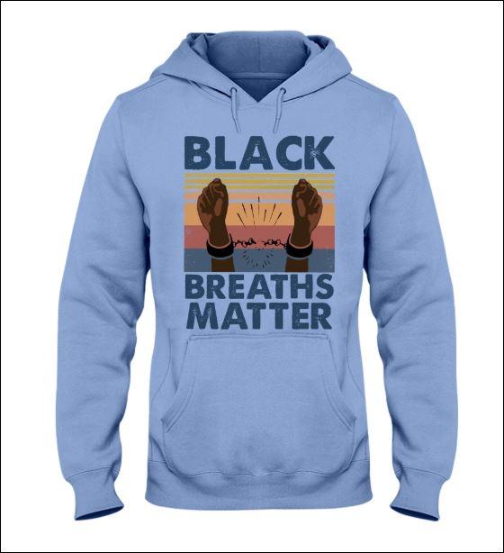 Black breaths matter vintage hoodie