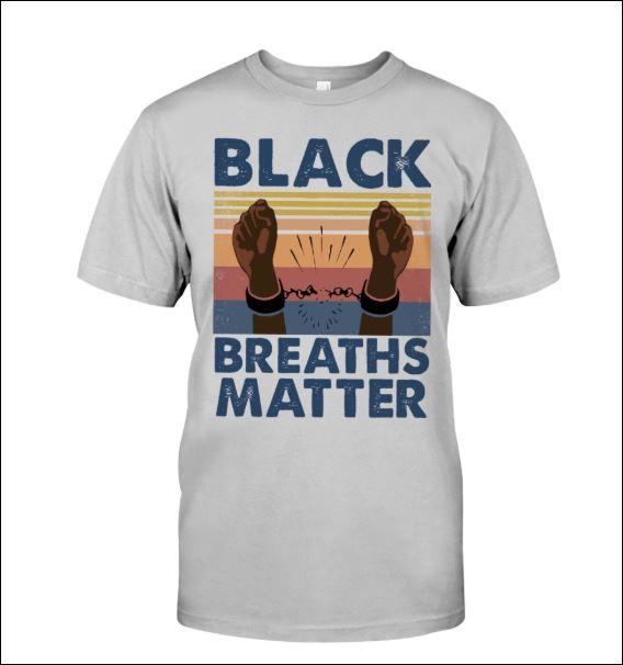 Black breaths matter vintage shirt