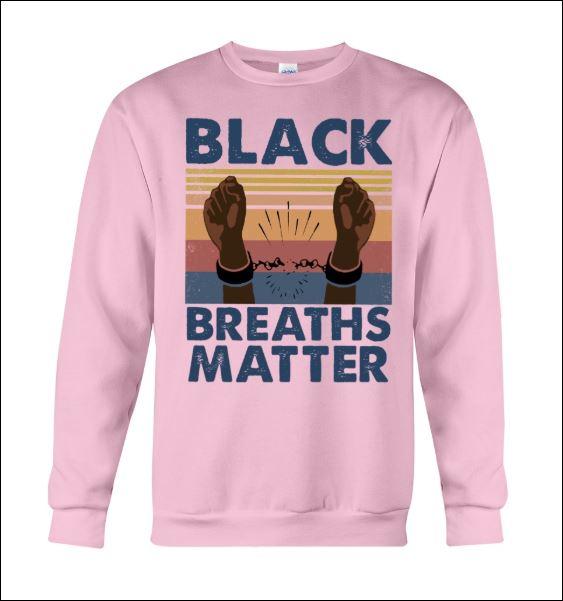 Black breaths matter vintage sweater