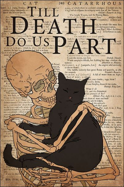 Black cat till death do us part poster