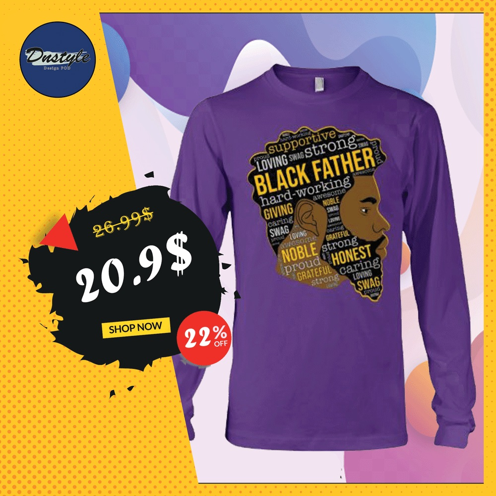 Black father long sleeved