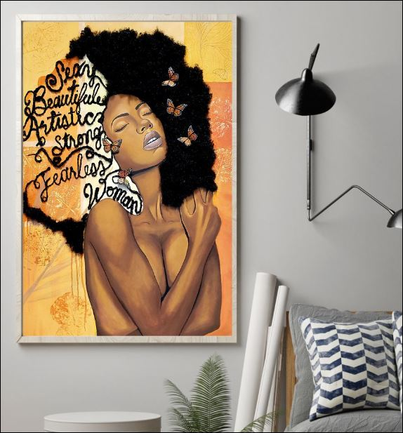 Black sexy beautiful artistic strong fearless woman poster 1