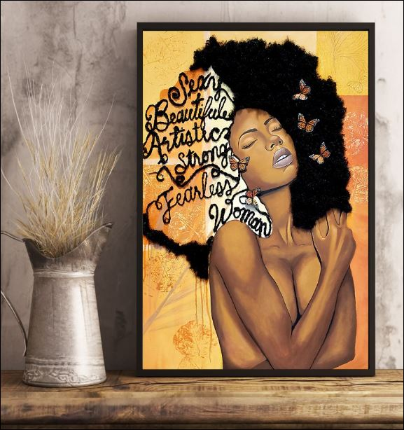 Black sexy beautiful artistic strong fearless woman poster 3