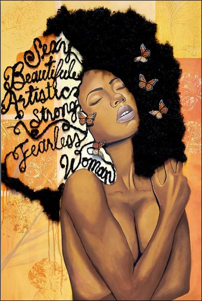 Black sexy beautiful artistic strong fearless woman poster