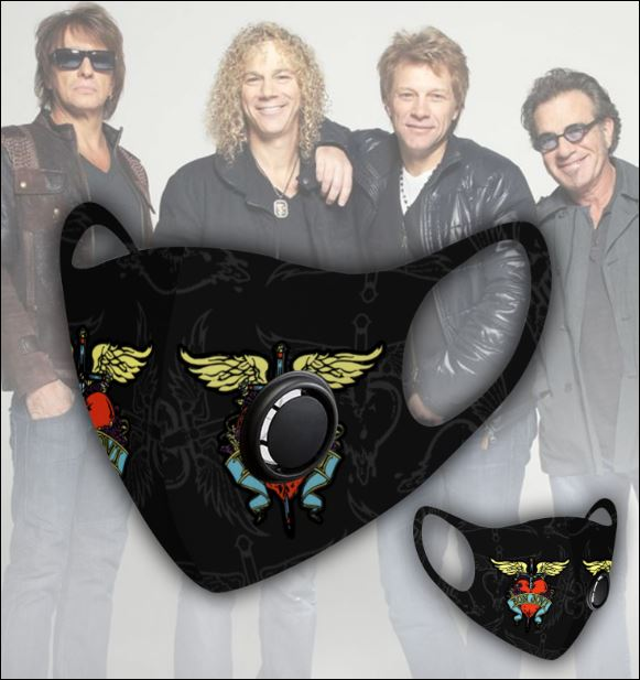 Bon Jovi filter activated carbon face mask 1