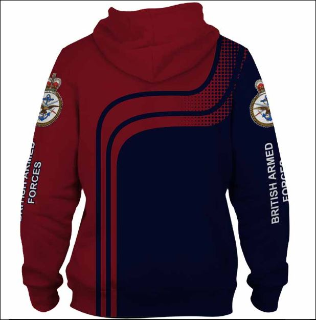 British Armed Forces 3D hoodie back