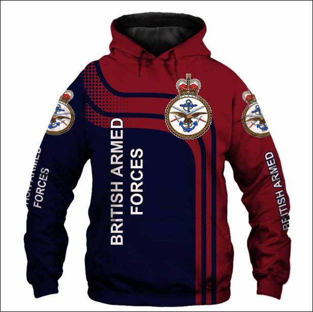 British Armed Forces 3D hoodie