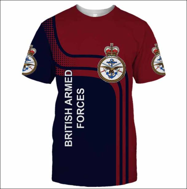 British Armed Forces 3D shirt