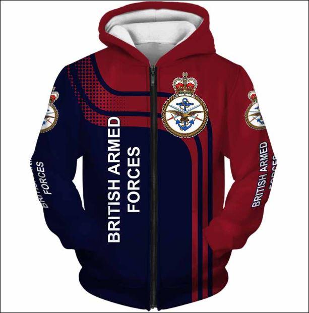 British Armed Forces 3D zip hoodie