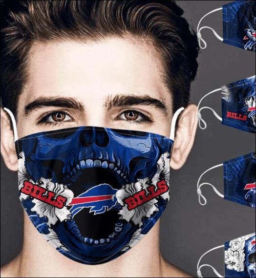 Buffalo Bills skull face mask