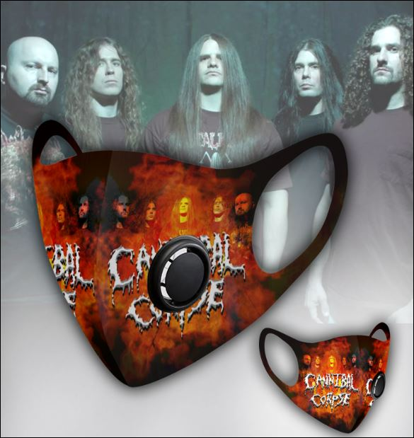 Cannibal Corpse filter activated carbon face mask 1