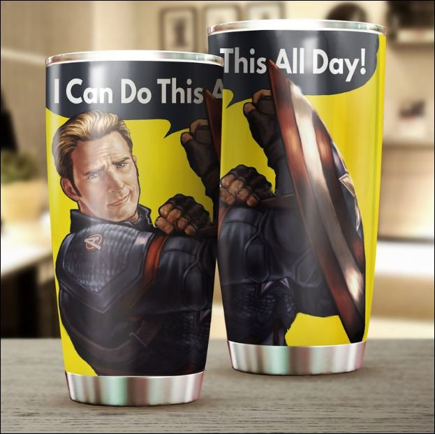 Captain America i can do this all day tumbler