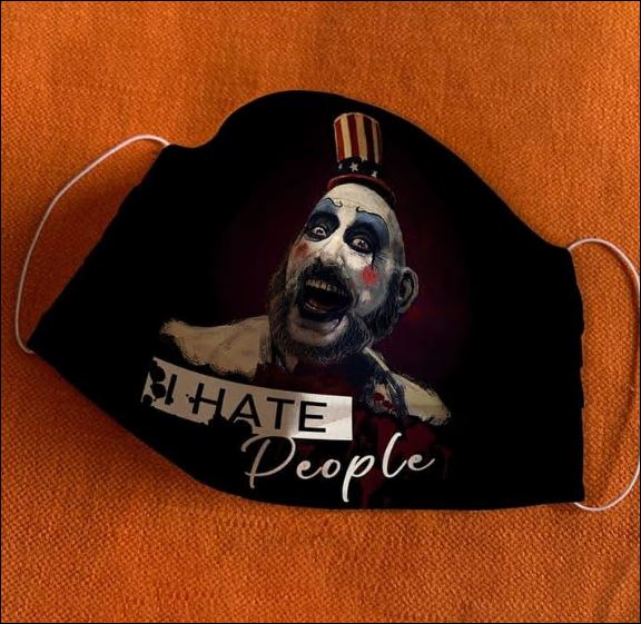 Captain Spaulding i hate people face mask