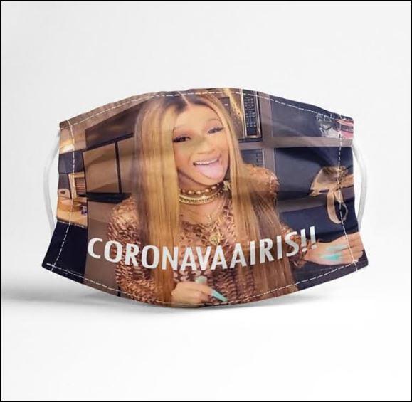 Cardi B coronavaaris face mask