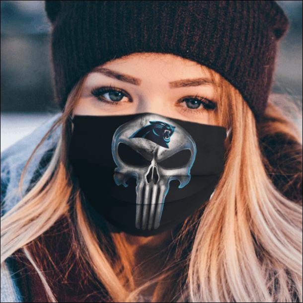 Carolina Panthers The Punisher face mask