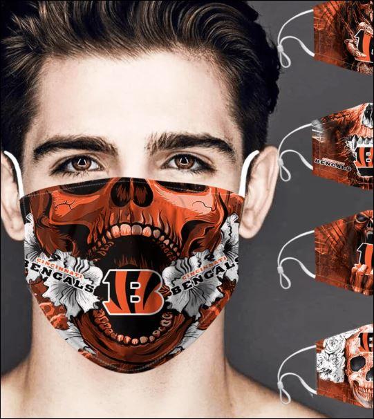Cincinnati Bengals skull face mask