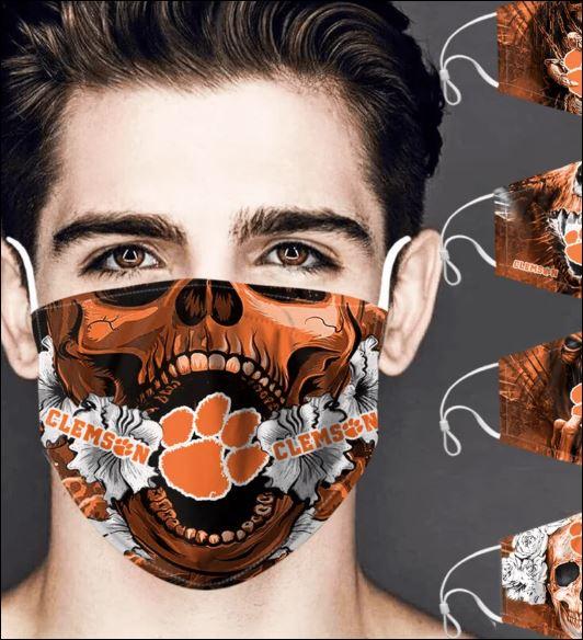Clemson Tigers skull face mask