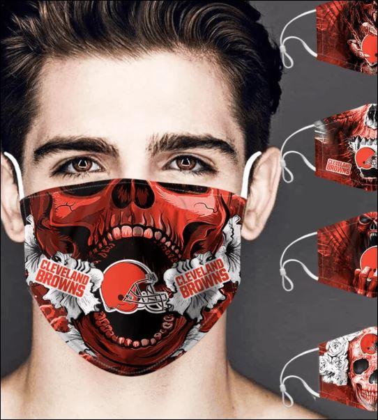 Cleveland Browns skull face mask