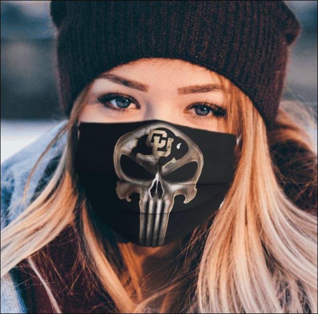 Colorado Buffaloes The Punisher face mask