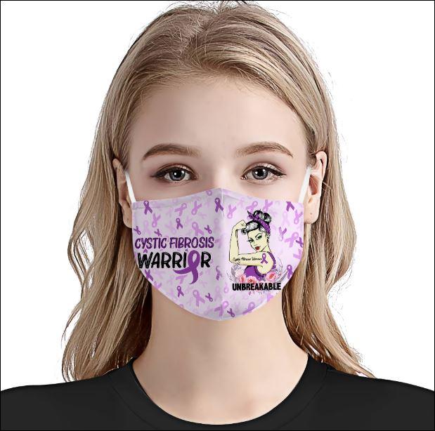 Cystic Fibrosis Awareness face mask