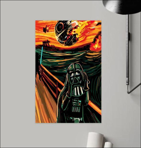 Darth Vader The Scream poster
