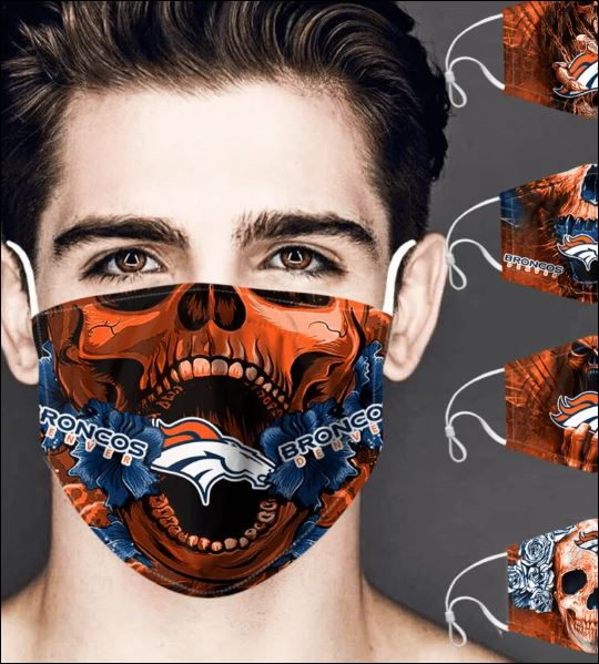 Denver Broncos skull face mask