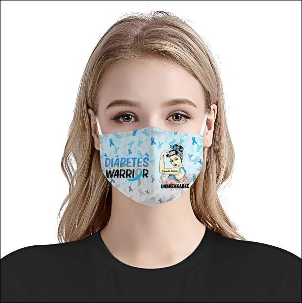 Diabetes Awareness face mask