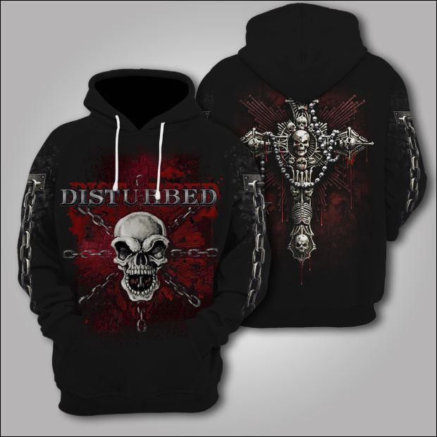 Disturbed 3D hoodie
