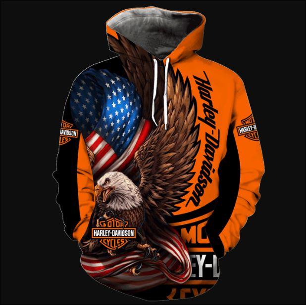 Eagle Harley Davidson 3D hoodie