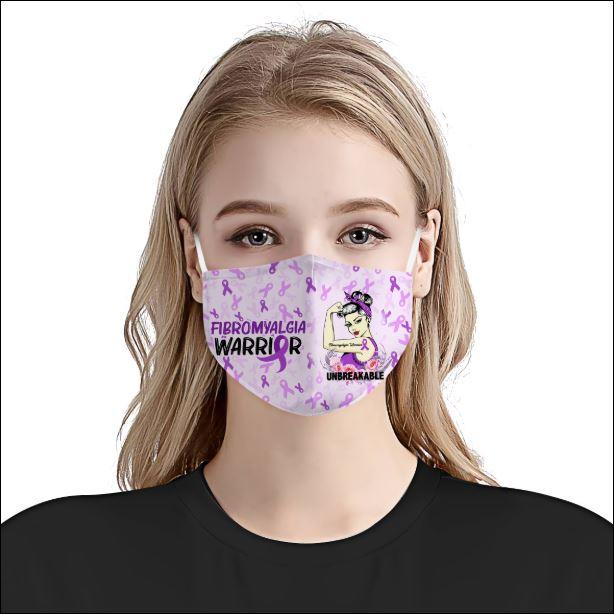Fibromyalgia Awareness face mask