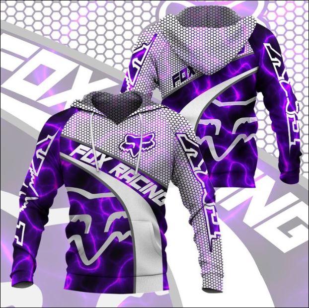 Fox racing violet 3D hoodie