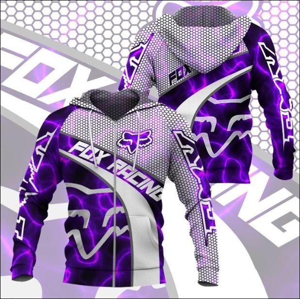 Fox racing violet 3D zip hoodie
