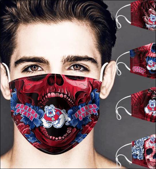 Fresno State Bulldogs skull face mask
