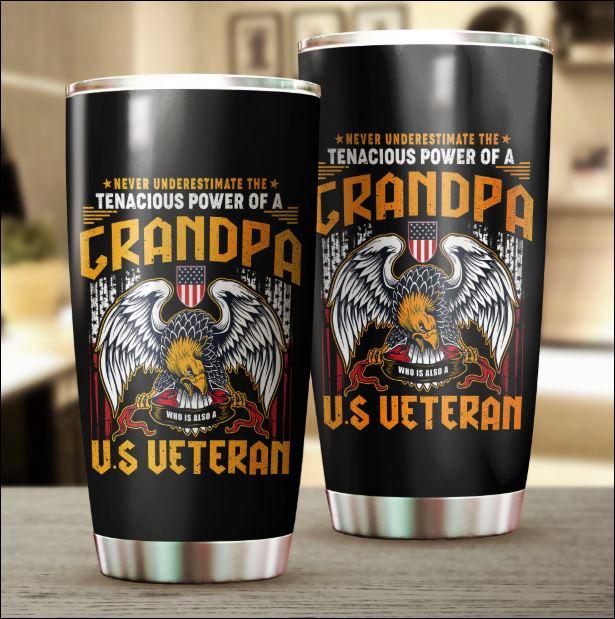 Grandpa US veteran tumbler