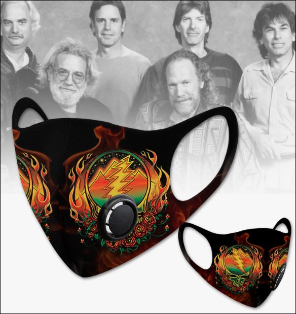 Grateful Dead filter activated carbon face mask 1