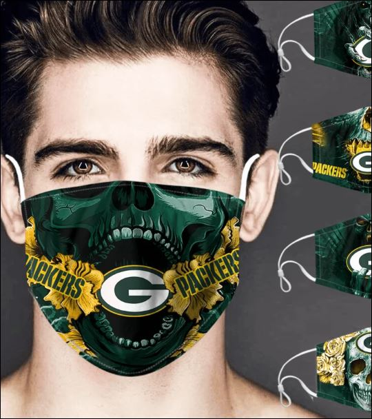 Green Bay Packers skull face mask