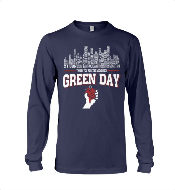 Green Day thank for the memories long sleeved