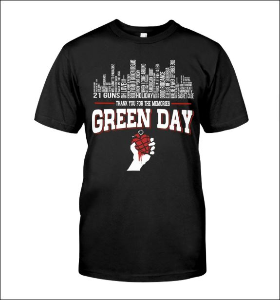 Green Day thank for the memories shirt