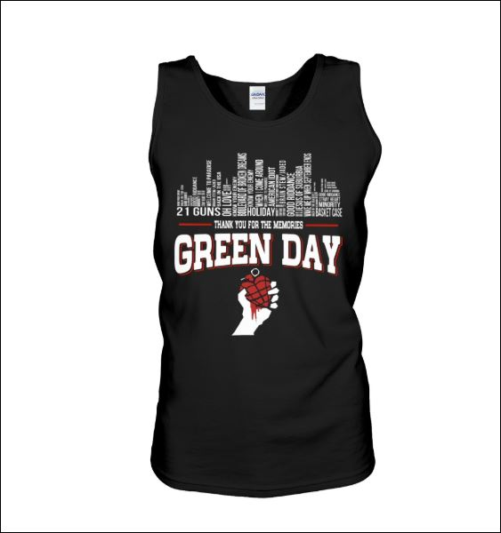 Green Day thank for the memories tank top