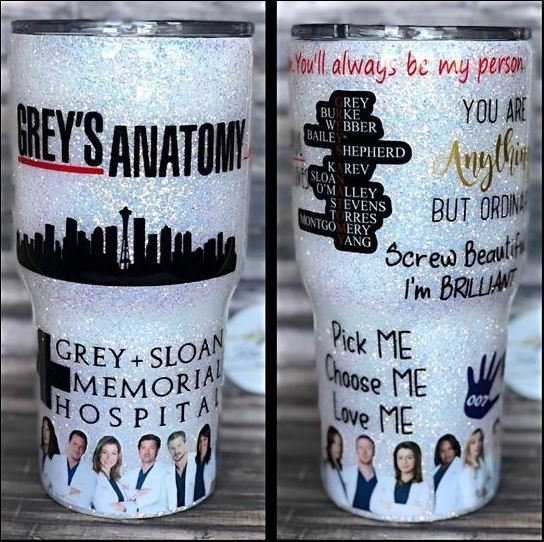 Grey's annatomy tumbler