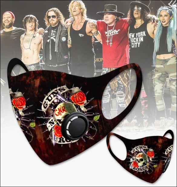 Guns N' Roses filter activated carbon face mask 1