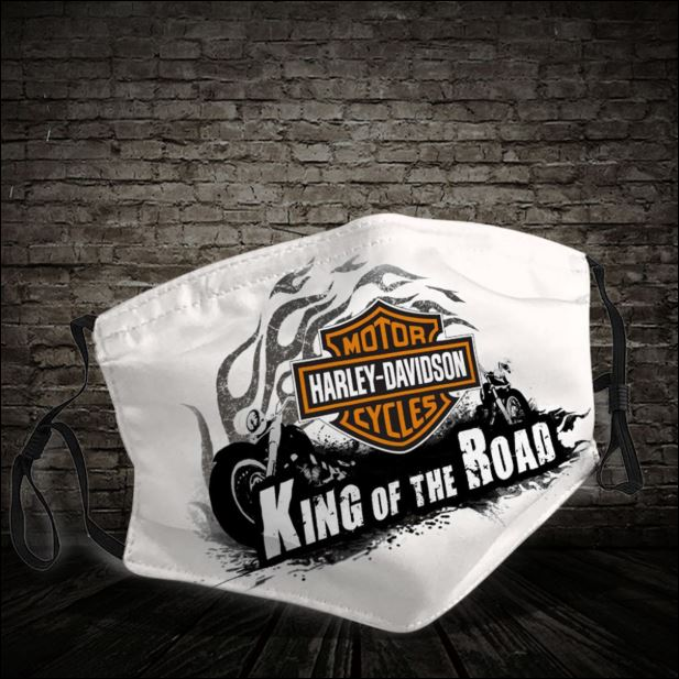 Harley Davidson King of the road face mask