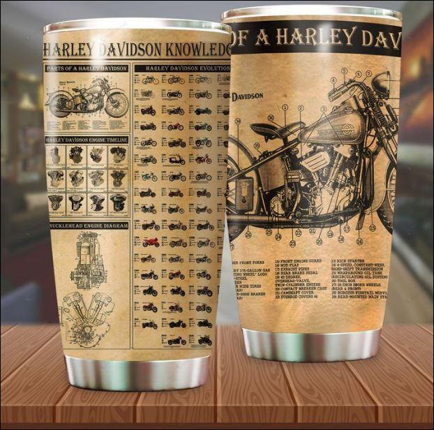 Harley Davidson knowledge tumbler