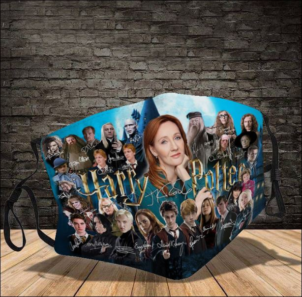 Harry Potter character signatures face mask