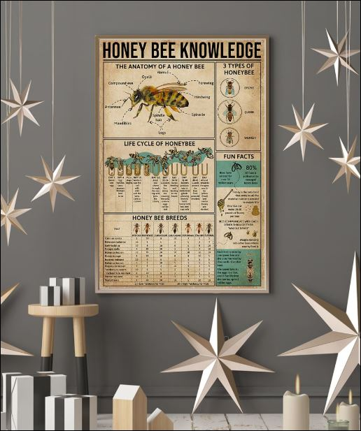 Honey Bee knowledge poster 3