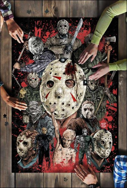Horror movie characters Jigsaw Puzzle