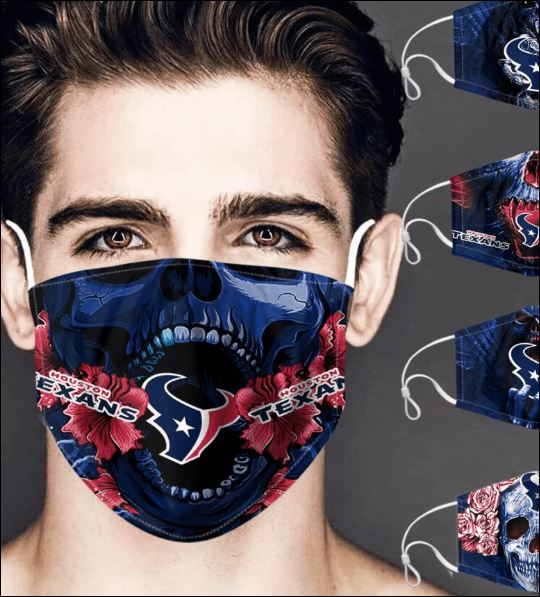 Houston Texans skull face mask